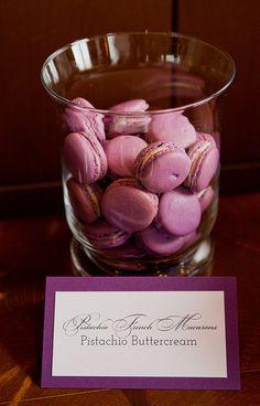 Purple Macarons | Cocoa & Fig Wedding Dessert Table