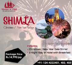 Planning A Christmas Holiday In Shimla Travelntime Offer Exclusive Package At Very