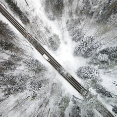Mind-Blowing Pictures of the Lithuanian Winter from the Air – Fubiz Media