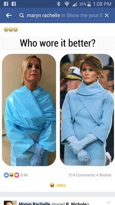Who knew the blue isolation gowns could influence fashion!!