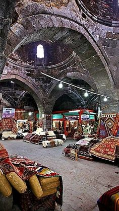 Istanbul, Turkey - The Bedesten of Kayseri, the old covered market of the city, where you can find some beautiful Anatolian carpets. Places Around The World, Around The Worlds, Naher Osten, Empire Ottoman, Georgie, Republic Of Turkey, Visit Turkey, Asia, Pamukkale