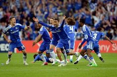 Chelsea - Despues del penal de Drogba