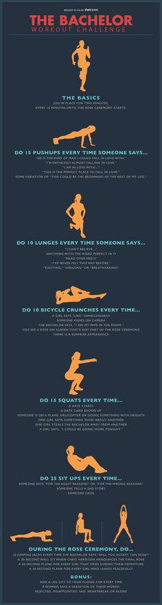 The Bachelor workout challenge
