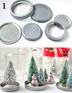 waterless snow globes DIY  not even kidding these are replicas of the ones my husband and I made this year.