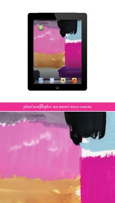 ipad wallpaper modern art painterly style from bigbrightbold - Blog