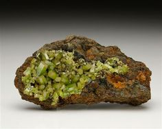 An uncommon specimen of Pyromorphite from Dognecea, Romania.  Crystal Classics Minerals