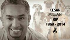 """Rest In Peace Cesar.    The famous """"Dog whisperer"""" Cesar Millan died of a heart attack this morning."""