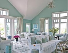 33 Modern Living Room Design Ideas   Florida beaches A Beach House as Blue as the Ocean. Beach Decor For Living Room. Home Design Ideas