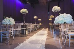 Large Vases, Blush Roses, Rose Petals, Hydrangea, Chairs, Ivory, Events, Table Decorations, Wedding