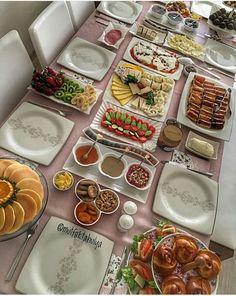 Iftar, Turkish Breakfast, Light Appetizers, Breakfast Buffet, Food Decoration, Food Presentation, Dessert Table, Finger Foods, Tapas