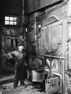 McCoy pottery being fired