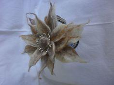 Wool  Felt  Brooch   Flower Accessory by FahionFeltProducts