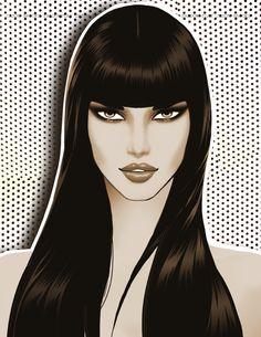 Jason Brooks  Fashion Illustration  Shadow Cutouts
