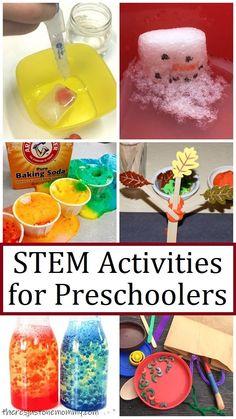 fun STEM activities for preschoolers Preschool Science Activities, Stem Science, Science Experiments Kids, Preschool Ideas, Stem Learning, Coding For Kids, Stem Projects, Simple, Fun