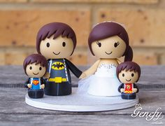 Cute superhero family cake topper (Batman, Superman and Flash)  https://www.facebook.com/genefyplayground