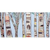 Found it at Wayfair - 'Ice Blue Birch Trees' by Eli Halpin Painting Print on Canvas