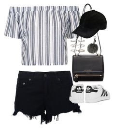 """""""Sin título #5482"""" by marianaxmadriz ❤ liked on Polyvore featuring rag & bone, Topshop, Givenchy, adidas Originals, Boohoo and Fendi"""