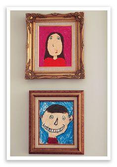 Framed self portraits - great grandparent gift