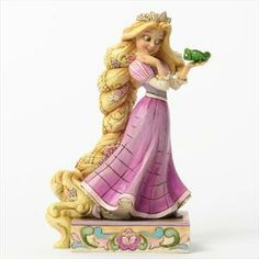 This Disney Traditions Rapunzel and Pascal figurine named Loyalty and Love is designed by Jim Shore. Features Rapunzel and her pet Pascal from Disney's Tangled animation. Disney Rapunzel, Rapunzel Flynn, Princess Rapunzel, Disney Princesses, Rapunzel Cake, Cinderella Disney, Deco Disney, Disney Love, Character