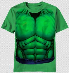 bd3c15a7e The Incredible Hulk Chest Muscle Costume Adult Green T-shirt top marvel  comics