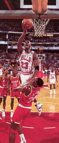 Michael Jordan and Hakeem Olajuwon (Houston Rockets)