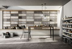 Diesel Living and Iris Ceramica Bring Industrial Home Warehouse Home, Industrial Windows, Industrial Tile, Industrial Design, Red Home Decor, Feature Tiles, Grey Flooring, Contemporary Decor, Wall Tiles