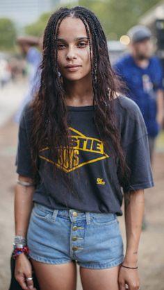 "It makes things so much more exciting. - Zoe Kravitz Sun in Sagittarius "" Beastie Boys, Zoe Kravitz Style, Lenny Kravitz, Zoe Isabella Kravitz, Vintage T Shirts, Venice Film Festival, Hippie Man, My Champion, Joan Smalls"