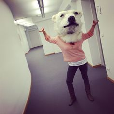 Ein Eisbär-Chimäre aus dem Resi-Fundus... #Kostüme #Resi #Residenztheater #Fundus #Eisbaer #Kopf #Chimaere