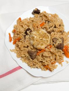 Uzbek Plov Recipe- Unlike typical palov (plov), Uzpek Palov is not mushy. It tastes more solid and delicate.