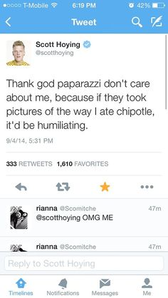 Scott's tweets are the best