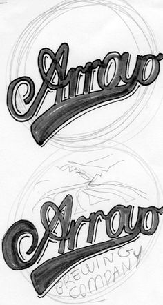 A closer view of the final lettering design generation. Now to focus on the swish and A.
