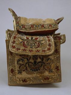Moscow Kremlin Stables Office's Workshops, second half of the XVII century. Wood, velvet, leather, tape, silver, silver braid; embroidery, applique, gilding, carving