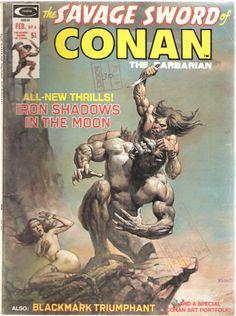 The Savage Sword of Conan the Barbarian. Vol. 1, No. 4. U.S. Comic. Feb. 1975.