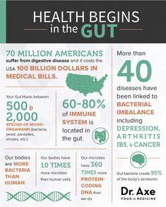 Probiotics Guide: Probiotic Benefits, Foods and Supplements http//www.draxe.com #guthealth #probiotics #holistic