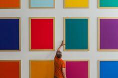 Winston Roeth (b 1945) ~ Photo by Tom Moore. | #art #painting #hardedge #abstract #minimalart #conceptualart