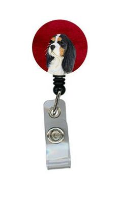 Cavalier Spaniel Retractable Badge Reel or ID Holder with Clip
