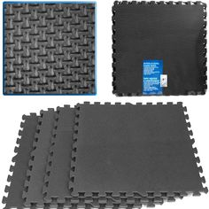 Ultimate Comfort Black Foam Flooring 16 Square Feet Water-Resistant for Garage for sale Home Gym Flooring, Foam Flooring, Basement Flooring, Rubber Flooring, Flooring Ideas, Flooring Options, Unfinished Basement Playroom, Home Gym Basement, Basement Apartment