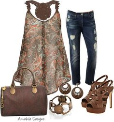 """""""Spring Date - Paisley Contest"""" by amabiledesigns on Polyvore #boho #comfy #relax"""