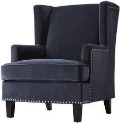 """Amazon.com: Vincent Wingback Chair, 40x29x35"""", PORT: Home & Kitchen"""
