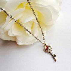 Victorian Opal Skeleton Key Necklace  pendant by Victorianstudio, $26.99