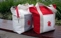 CityHopper Red Rabbit - urban tote bag
