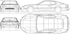 Templates of cars for cake modelling