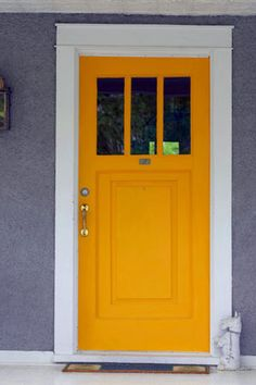 Click Pic for 50 DIY Home Decor Ideas on a Budget - Paint your Front Door an Unexpected Shade - DIY Crafts for the Home