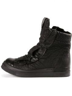 CINZIA ARAIA - Leather Hi-Top Sneaker - CA116/52N BLACK - H. Lorenzo