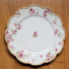 maSphere Select: vintage chic blog.: Plato de decoración limoges rosa oro haviland - ma...