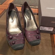 Shoes Grey Suede Janet & Janet Shoes Grey Suede beautiful, 2 3/4 inch heel comfy just like New Janet & Janet Shoes