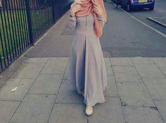 Shop sexy club dresses, jeans, shoes, bodysuits, skirts and more. Islamic Fashion, Muslim Fashion, Modest Fashion, Abaya Fashion, Skirt Fashion, Fashion Outfits, Beautiful Hijab, Beautiful Outfits, Stylish Hijab