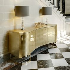 Gold Leaf Buffet Sideboard Gold Furniture Luxury