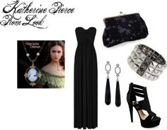 """Katherine Pierce Prom Look"" by rebecca-fitzpatrick on Polyvore"