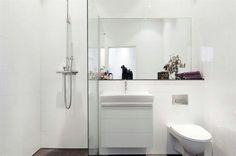Ducha en baño pequeño